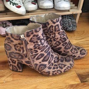 New Look Leopard/Cheetah print booties!